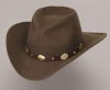Brown Wool Crushable Felt Cowboy Hat