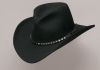 Black Pinch Front Wool Cowboy Hat