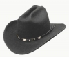 Black Wool Crushable Cattleman Cowboy Hat