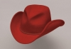 Red Pinch Front Wool Cowboy Hat