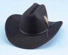 Black Polk County Wool Cowboy Hat