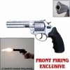 Zoraki R1 Revolver 4.5'' Barrel Nickel Finish - Front Firing Blank Gun