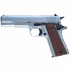 M1911 .45 Government Blank Firing Replica Pistol Nickel