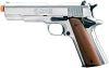 M1911 .45 Chrome- Front Firing Blank Replica Gun