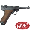 GERMAN LUGER WW II PISTOL with Wood Grips