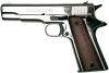 M 1911 IMPROVED .45 AUTOMATIC BLANK FIRNG GUN NICKEL FINISH