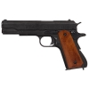 M1911A1 Black Finish Dark Wood Grip Field Strip