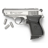James Bond Style Nickel Finish 9MM Blank Firing Gun