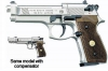 Beretta Air Pistol Model M92 N (FS92) Nickel w/ Wood Grips & Compensator