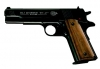 Colt Airguns- Gov't model 1911 A1 Air Pistol Blued w/Compensator & Wood Grips
