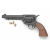 M1873 9MM BLANK FIRING OLD WEST REVOLVER, BLACK FINISH